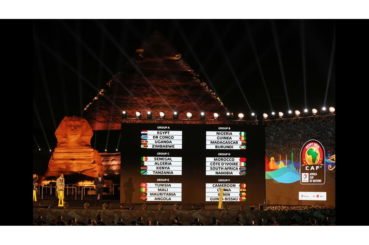 Draw of Total Africa Cup of Nations, Egypt 2019